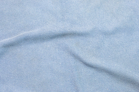 Photo of blue wave microfiber fabric texture Stock Photo