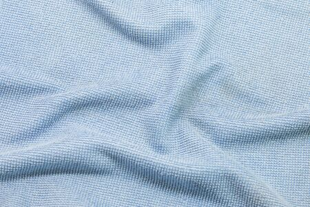 photo of blue wave fabric Stock Photo