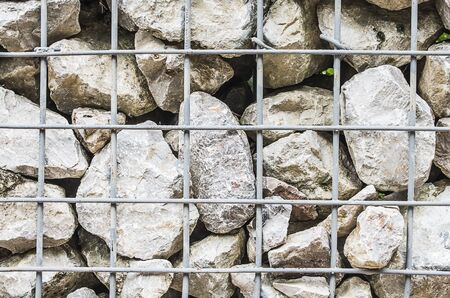 Rocky Mountain Walls Covered by Steel Frame