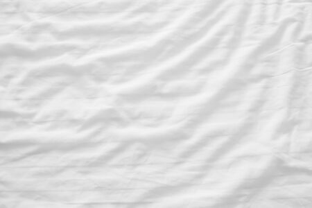 White linen background with copy space