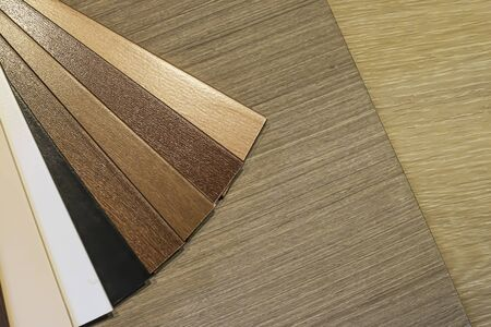 PVC Polymer Vinyl sample for customers to choose the floor design within the copy space