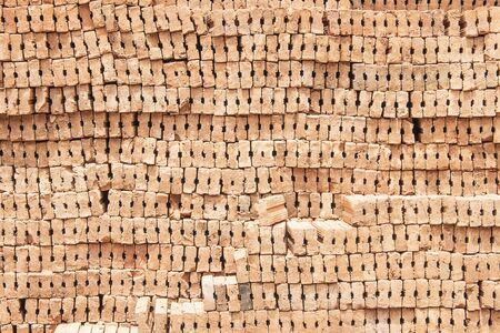 Many bricks for home construction