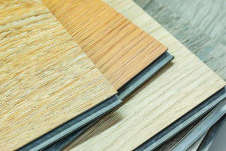 PVC Polymer Vinyl sample for customers to choose the floor design 免版税图像