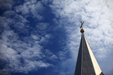 cross on blue sky Stock Photo - 11908317
