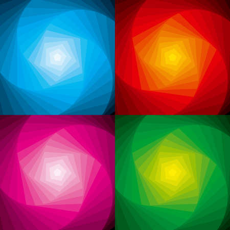 Abstract vector illustration depicting a set of colorful swirls.