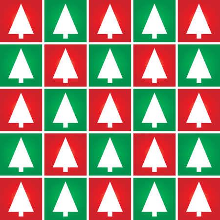 diciembre: Resumen árbol de Navidad de fondo sin fisuras patrón. Vector ilustración.