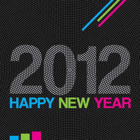2012 Happy New Year modern background or greeting card. Vector