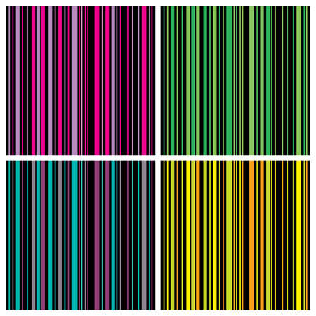 vector set  Colorful Seamless Stripes Background Pattern Vector