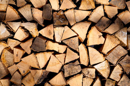 stack of chopped fire wood texture background Stock Photo - 12748098