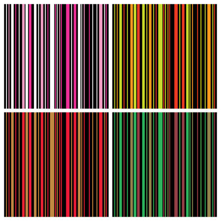 Colorful Seamless Stripes Background Pattern Vector