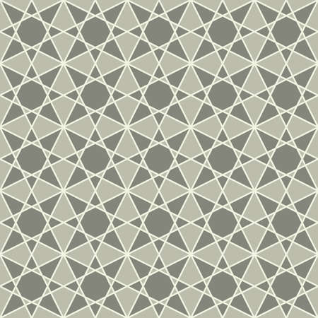 geometrical shapes: vintage seamless monochrome geometrical mosaic pattern background