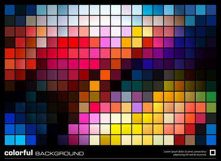 colorful mosaic background. abstract illustration layout design Vector