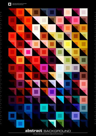 abstract modern background. colorful illustration made by squares and triangles Illustration