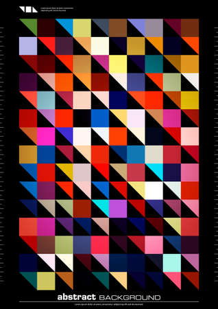colorful abstract background. seamless pattern made by triangles and squares Illustration