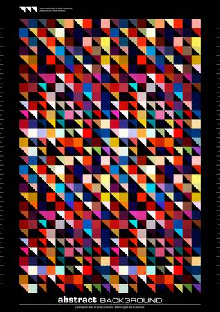 modern abstract background. seamless mosaic pattern Illustration