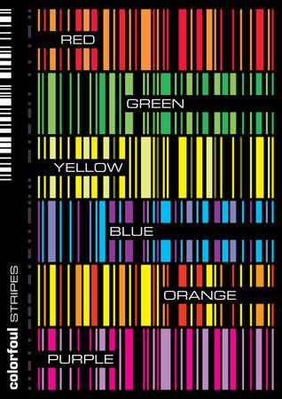 colorful seamless stripes vector illustration set
