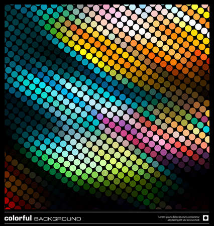 space text: abstract background design template. modern pixel mosaic  Illustration