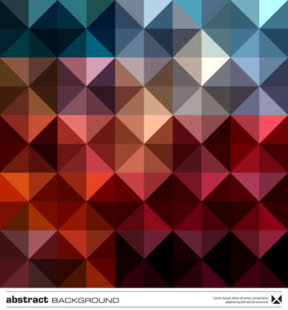 Abstract background design . Triangles mosaic design template. Stock Vector - 16464849