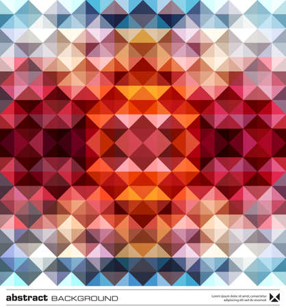Abstract background design . Triangles mosaic design template. Stock Vector - 16464850