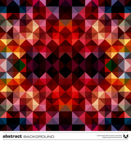 Abstract background design . Triangles mosaic design template. Stock Vector - 16464847