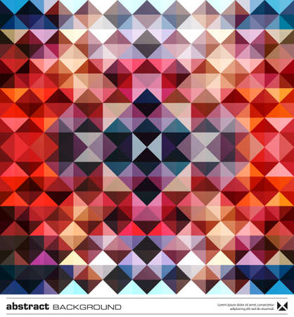Abstract background design. Triangles mosaic design template. Vector