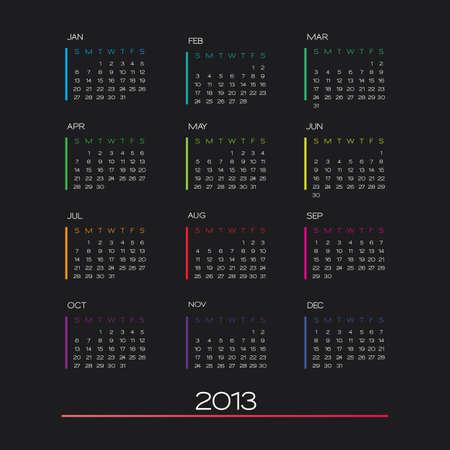 calendar 2013. clean business calendar design template Stock Vector - 16464854