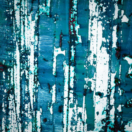 old paint texture background. abstract blue painting. peeling paint surface. photo
