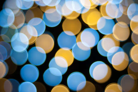 Christmas defocused lights background. Blurred lights background. Bokeh sparkling lights. Abstract circles background. Stock Photo - 17757898