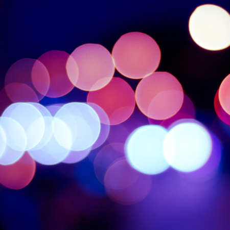 sparkling and defocused lights background. blue bokeh background. abstract blurred lights Stock Photo - 17924914
