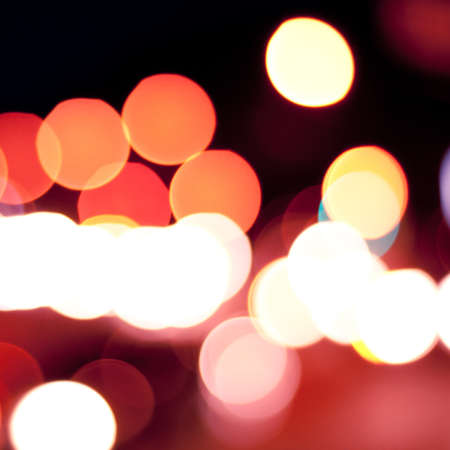 Blurred defocused lights background of city at night. Bokeh sparkling lights. Stock Photo - 18003973