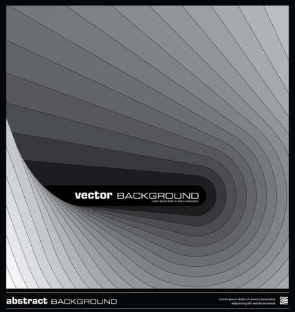 Abstract geometric background made by stripes vector illustration. Black and white background layout template. Modern grey background. Dark wavy lines design background. Illustration