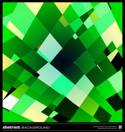 Abstract emerald green geometric background. Modern  design vector illustration. Poster, card, flyer or cover template. Green background made by lines and rectangular shapes. Mosaic vector. Stock Vector - 19057122