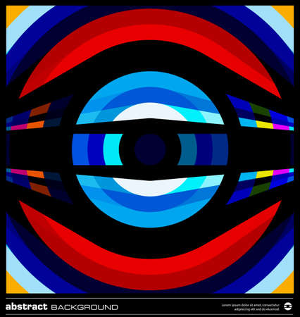 Abstract circles background. Modern geometric background design. Techno poster, card, flyer or cover template. Colorful background made by lines and circular shapes. Retro background. Stock Vector - 19138815