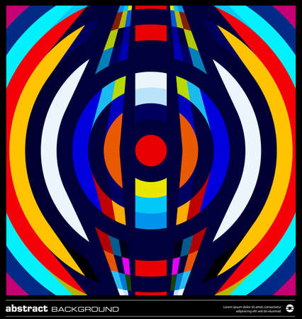 Abstract circles background vector. Modern geometric background design. Techno poster, card, flyer or cover template. Colorful background made by lines and circular shapes. Retro background. Stock Vector - 19138813