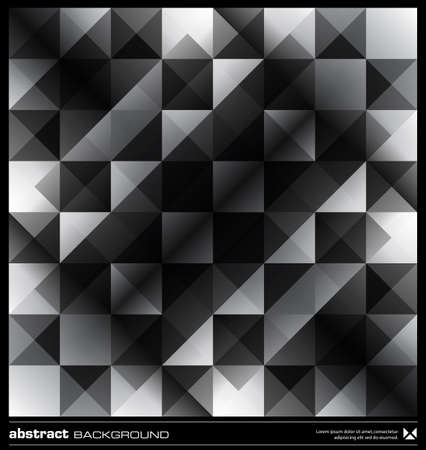 Triangles  background design. Black and white pattern. Abstract modern mosaic seamless pattern. Retro poster, card,flyer or cover template. Stock Vector - 19579191