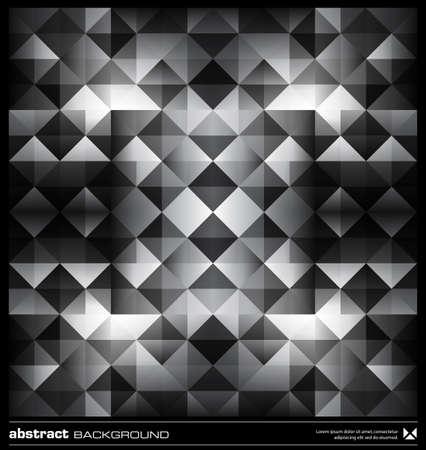 Dreiecke Hintergrund Design. Schwarz-Weiß-Muster. Abstract modern Mosaik nahtlose Muster. Retro Poster, Karten, Flyer oder Cover-Vorlage.
