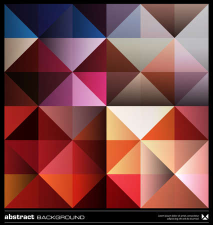 Triangles  background design. Colorful pattern. Abstract modern mosaic seamless pattern. Retro poster, card,flyer or cover template. Stock Vector - 19579201