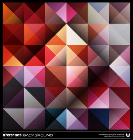 Triangles  background design. Colorful pattern. Abstract modern mosaic seamless pattern. Retro poster, card,flyer or cover template. Illustration