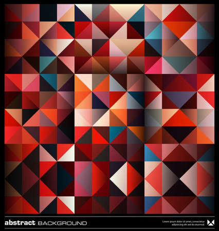 Retro triangles  background design. Colorful pattern. Abstract modern mosaic seamless pattern. Retro poster, card,flyer or cover template. Illustration