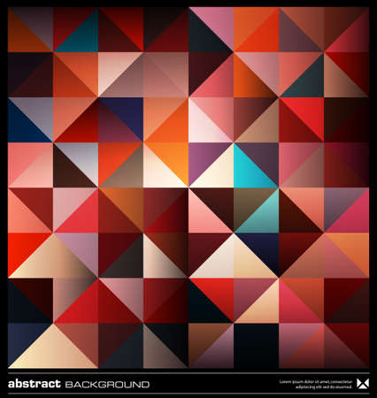 Triangles  background design template. Colorful pattern. Abstract modern mosaic seamless pattern. Retro poster, card,flyer or cover template. Illustration
