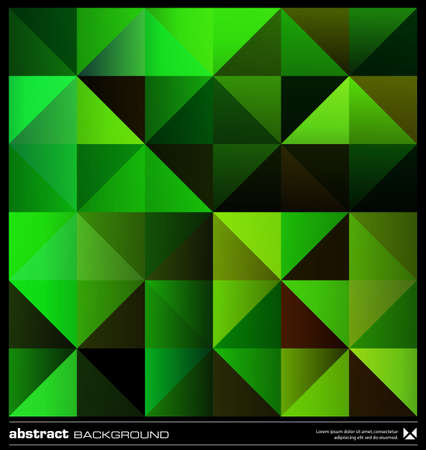 Triangles  green background design. Seamless pattern. Abstract modern mosaic pattern. Retro poster, card,flyer or cover template. Stock Vector - 19579190