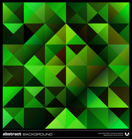 Triangles  green background design. Seamless pattern. Abstract modern mosaic pattern. Retro poster, card,flyer or cover template. Stock Vector - 19579197