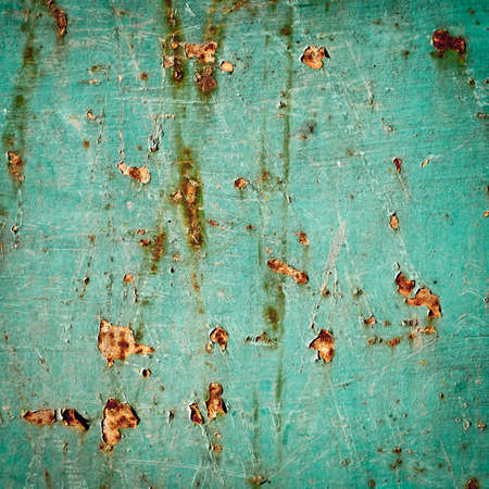 grunge texture background  rusty metal with cracked paint  abstract green background