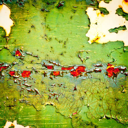 Grunge background. Old paint texture. Rusty metal with peeling paint. Abstract painting. photo