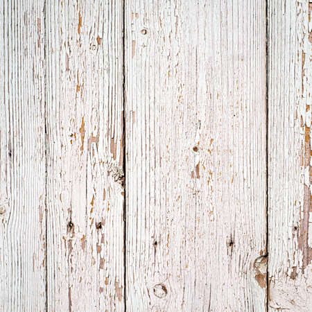 white wood texture background. old wood planks painted with white color Stock Photo