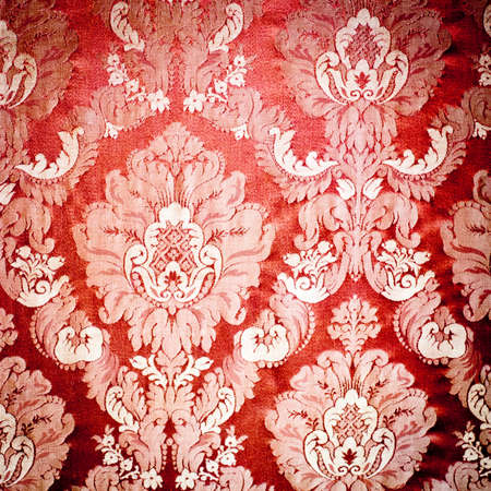 tapestry: Vintage damask background wallpaper. Red tapestry fabric.