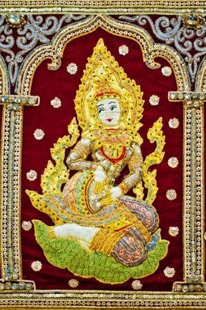 parvati: Hindu female Goddess decorative ornament background. God Hindu Mythology from India Asia.