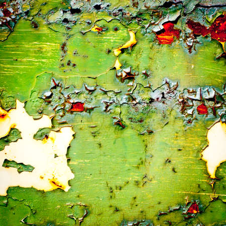 Grunge background. Old paint texture. Rusty metal with peeling paint. Abstract painting.