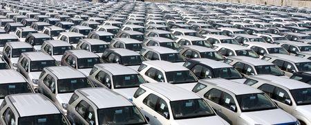 Line up export cars at carport