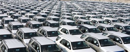 Line up export cars at carport Stock Photo - 2939313